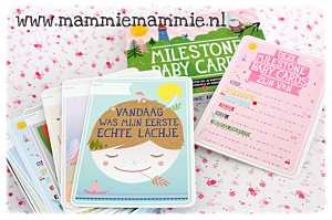 milestone baby cards nederlands