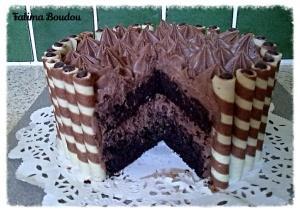 Binnenkant chocoladetaart