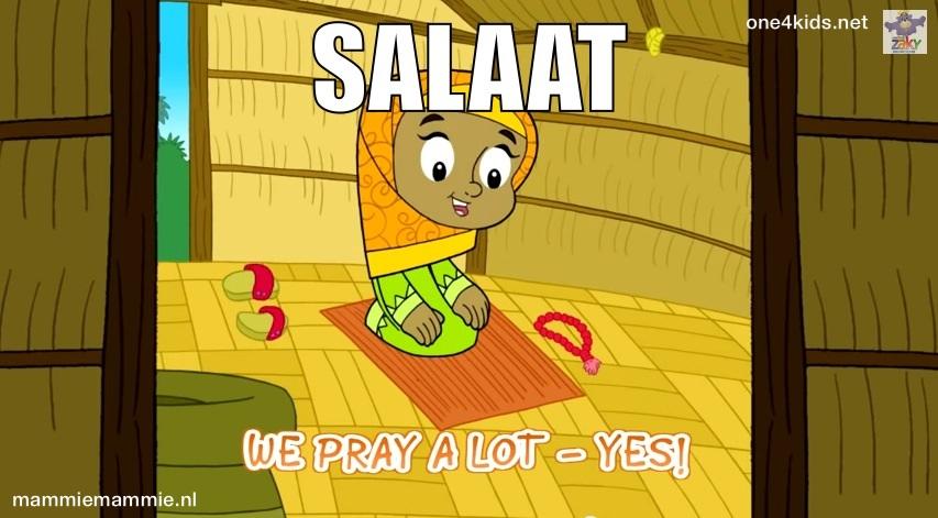 Salaat bidden kinderen