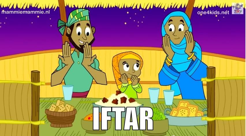Iftar tijd kinderen ramadan etenstijd