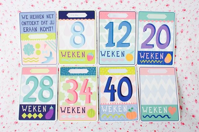 Milestone Pregnancy cards de weken