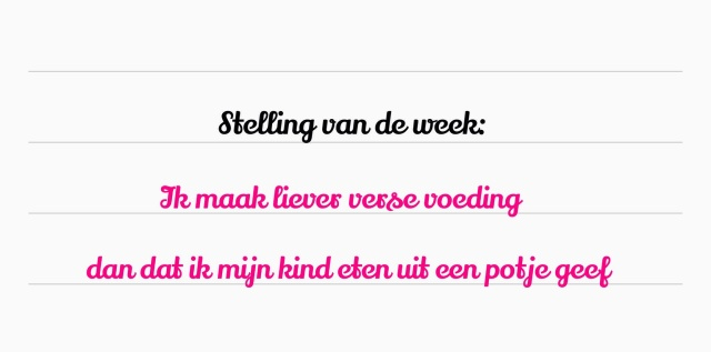 Stelling voeding baby