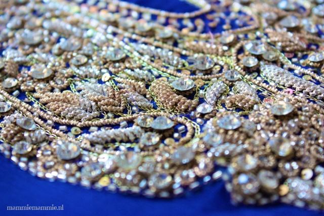 Kobaltblauwe saristof