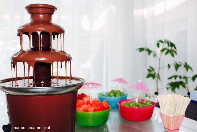 Chocoladefondue fruit feest